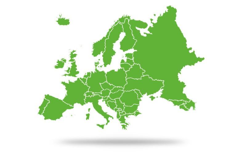 landenkaart waar je je bankkaart onbeperkt kunt gebruiken