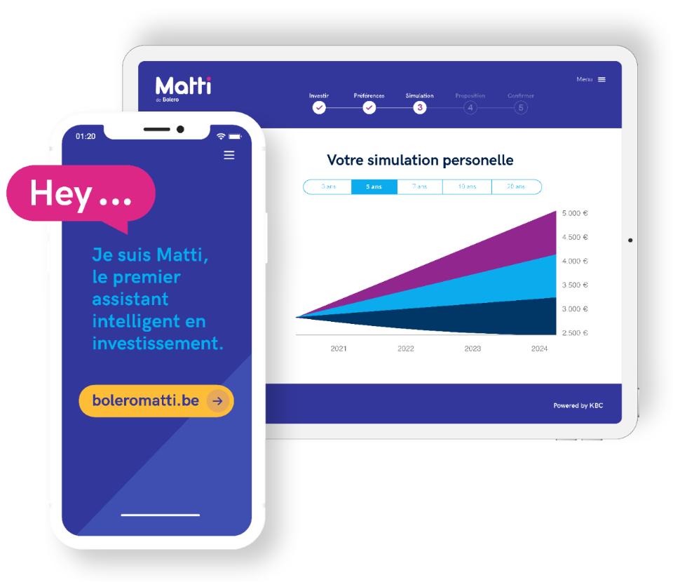 Investissements passifs dans des trackers avec Matti, l'assistant numérique malin en investissements de Bolero